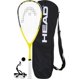 RAQUETAS PACK RAQUETA SQUASH HEAD CYANO 115 JUNIOR