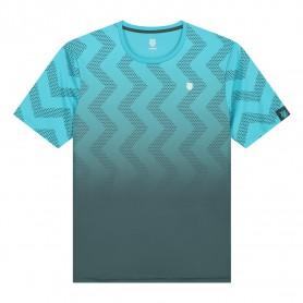 K-Swiss Camiseta Hypercourt Print Crew Scuba Blue