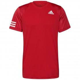 Adidas Camiseta Club 3-Stripe Rojo