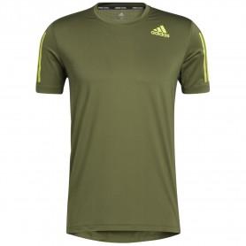 Adidas Camiseta Techfit Fitted 3 Bandas Verde