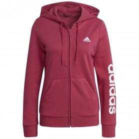 Chaqueta Con Capucha Adidas Essentials Logo Mujer Rosa