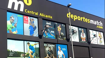 M1 Central Alicante - Almacen central de Deportes Match y M1SQUASH